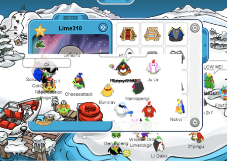 Lime310 server froze up on clubpenguin